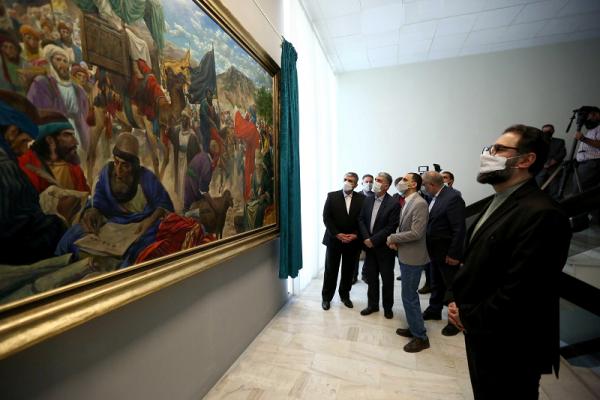 حسن روح الامین ماجرای سلسلةالذهب را نقاشی کرد